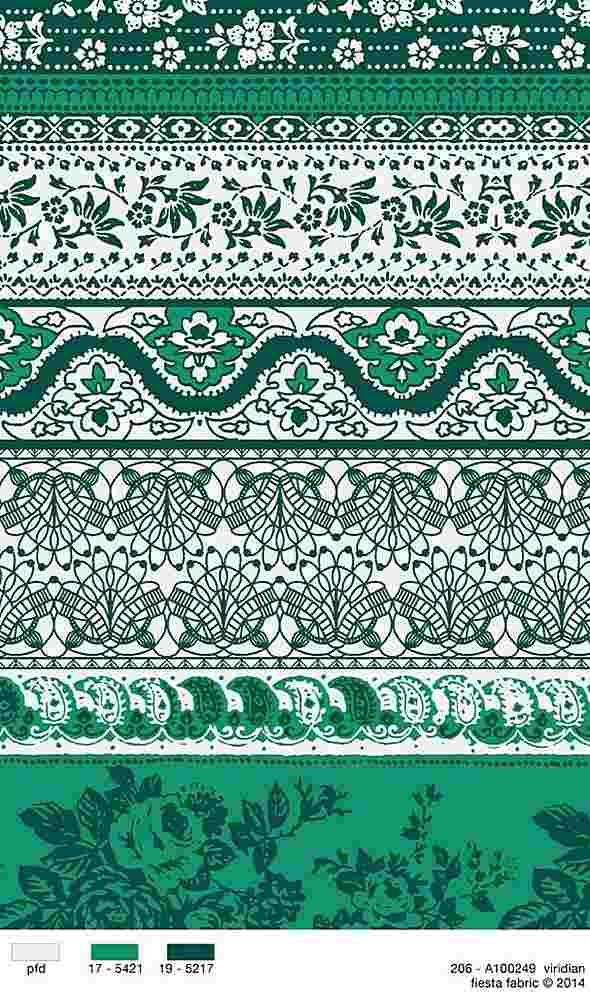 206-A100249-35 / VIRIDIAN / 100% Rayon Challis Print