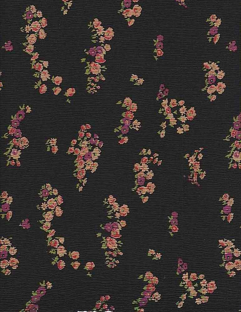 SP023-64 / BLACK/MULTI / 100% Rayon Gauze Print