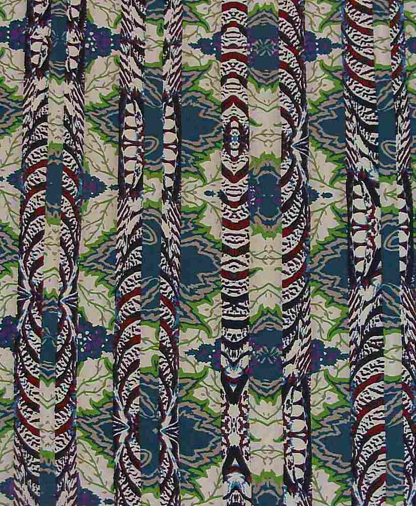 FIE-206-932-35 / TEAL / 100% Rayon Challis Print