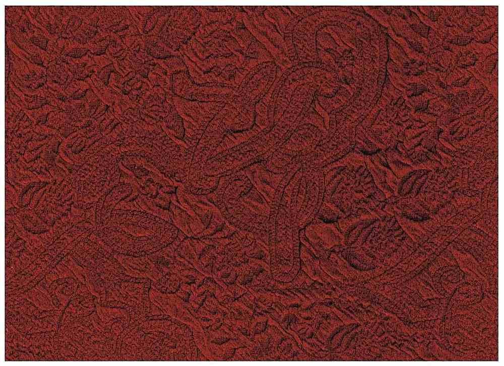 CICM-6447 / BURGUNDY / 95%Poly 5%Spandex Jacquard Knit