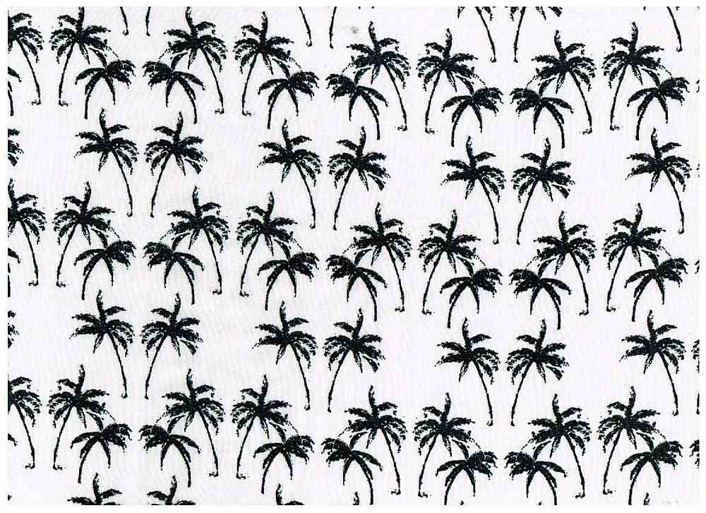 CA-043-35 / WHITE/BLACK / 100% Rayon Challis Print