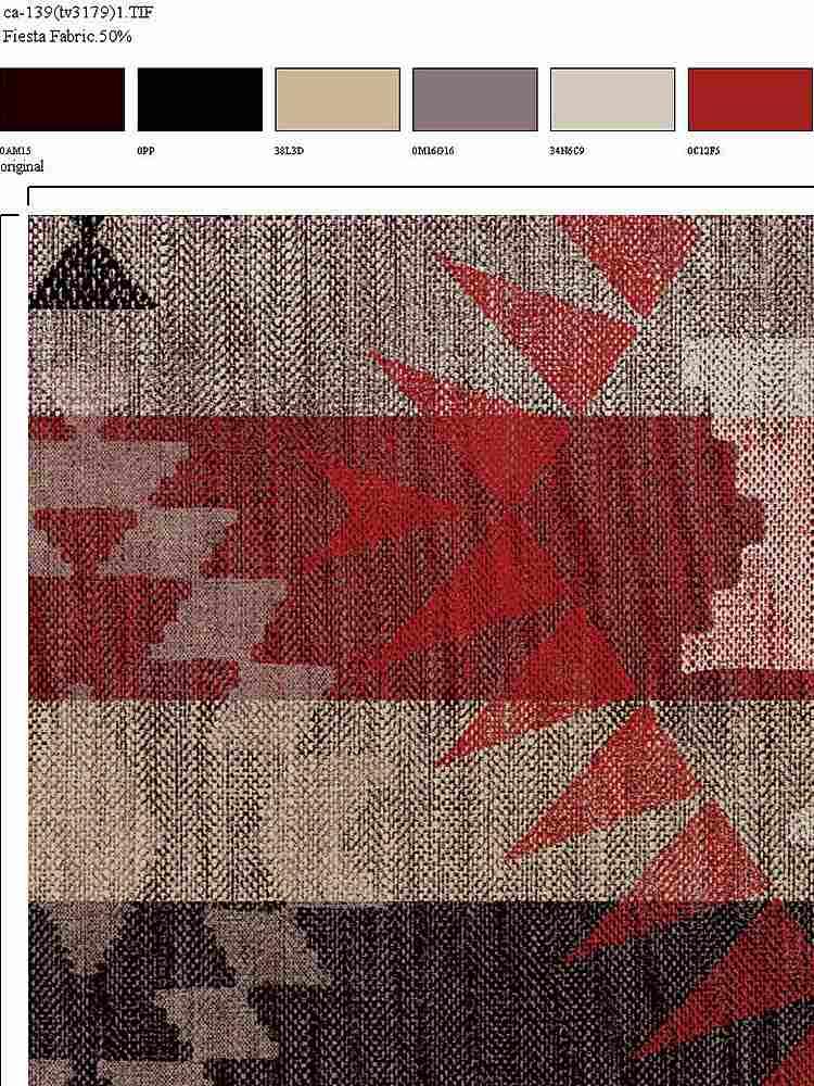 CA-139-35 / BURGUNDY / 100% Rayon Challis Print
