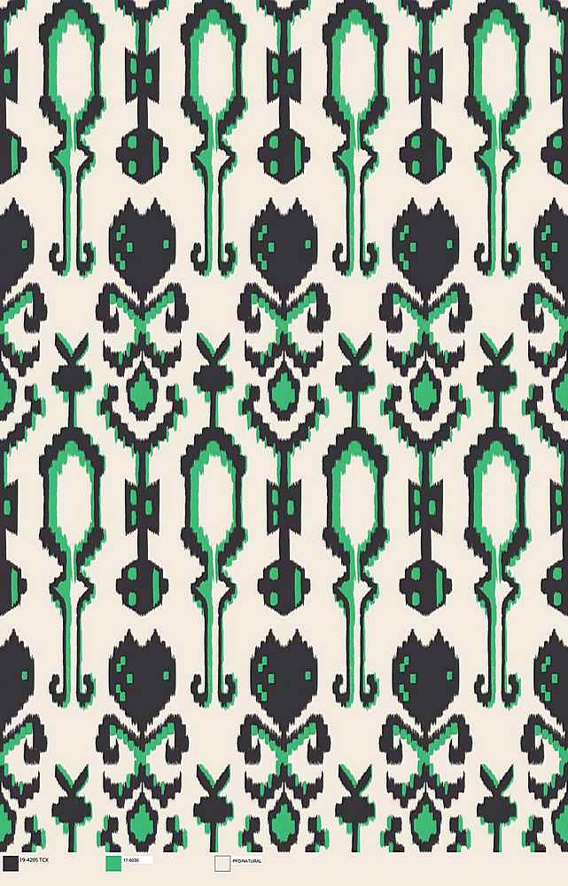 #1570-30 / HUNTER GREEN / Rayon Spandex Jersey Print