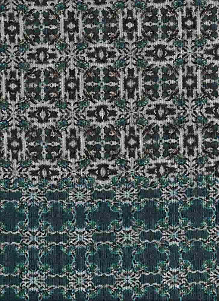 2226-30 / BLUE / Rayon Spandex Jersey Print 180gsm