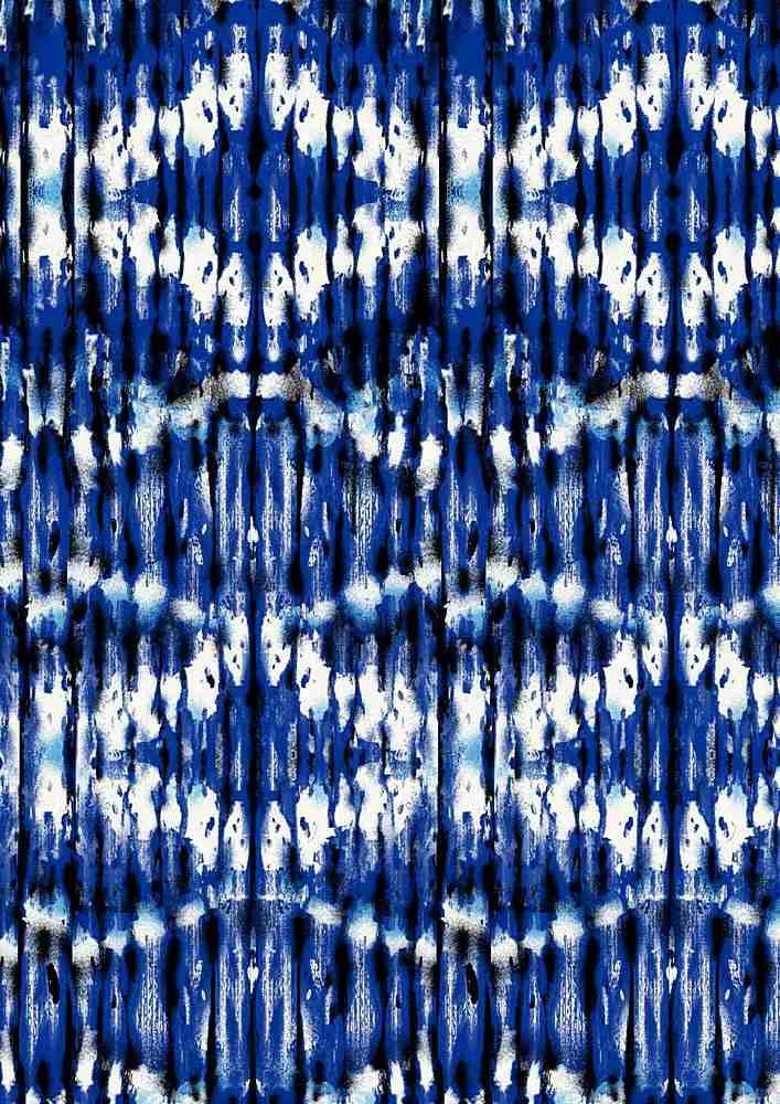 CA-187-30 / BLUE / Rayon Spandex Jersey Print 180GSM