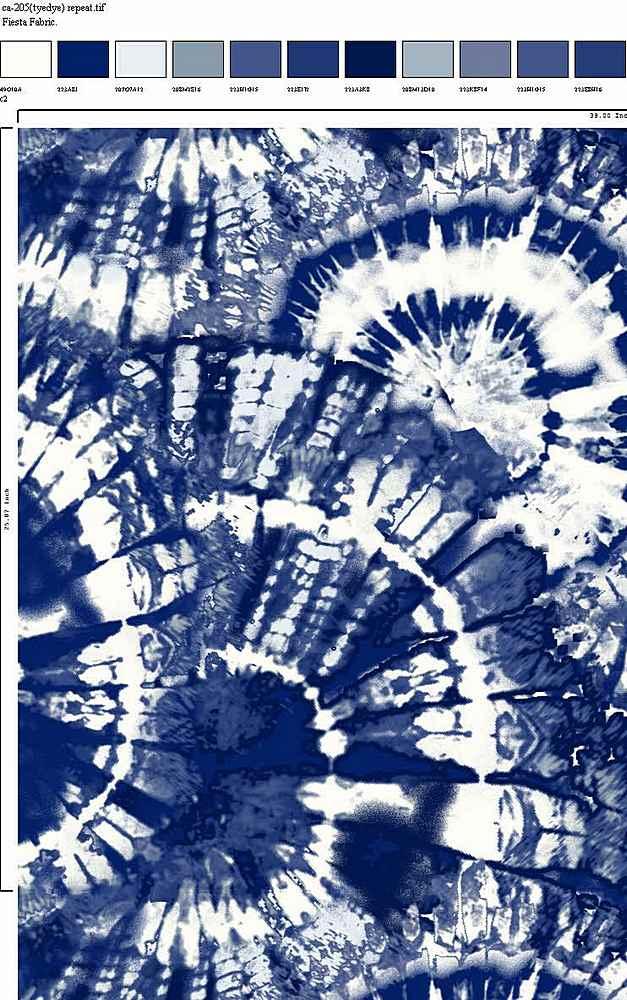 CA-205-30 / NAVY / Rayon Spandex Jersey Print