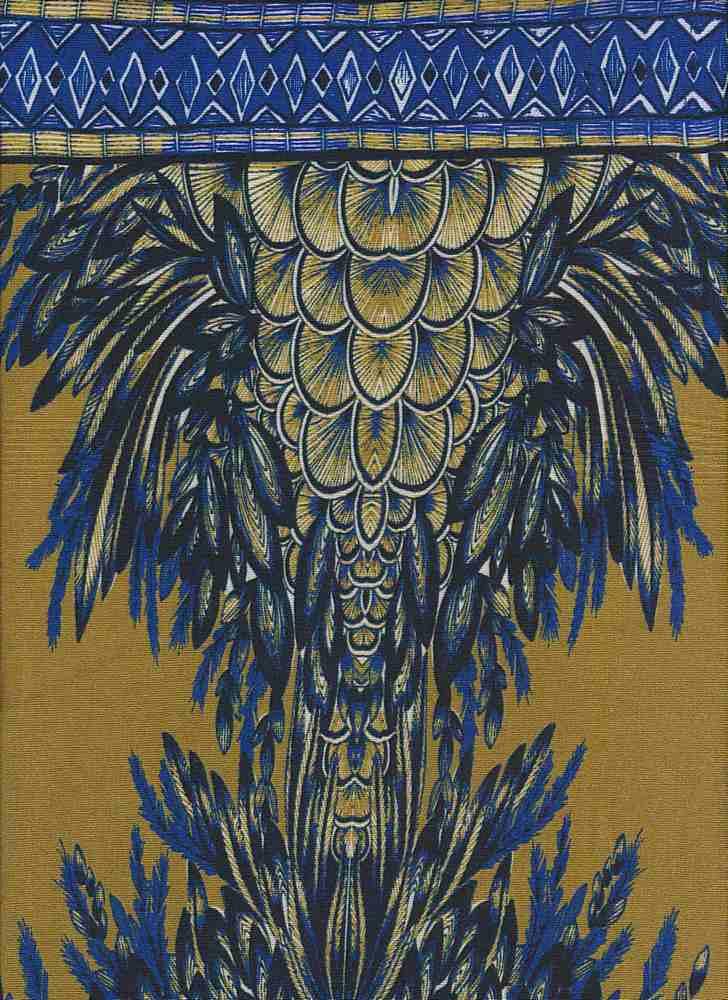 FIE-206-1017-35 / BLUE / 100% Rayon Challis Print
