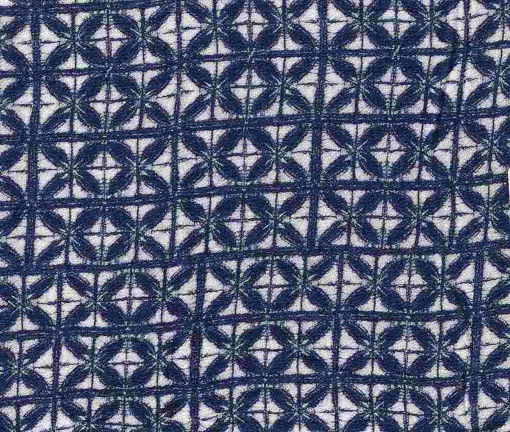 2439-64 BLUE RAYON GAUZE PRINT