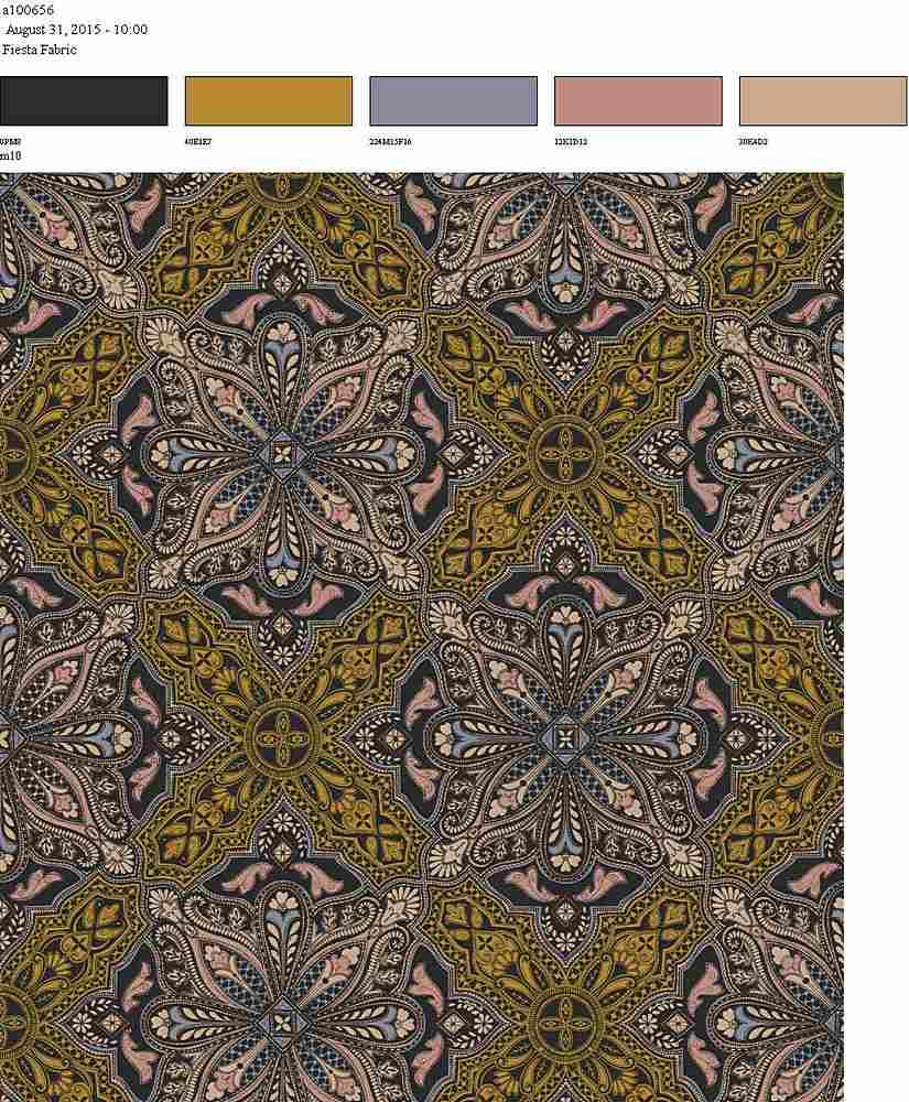 206-A100656-64 / MUSTARD / 100% Rayon Gauze Print