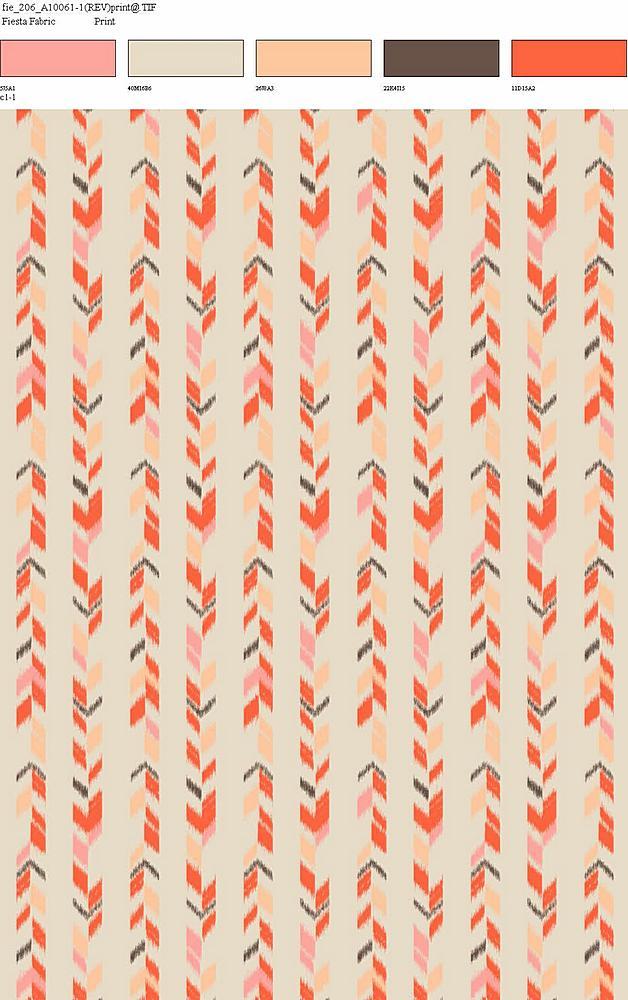 206-A10061-64 / CORAL / 100% Rayon Gauze Print