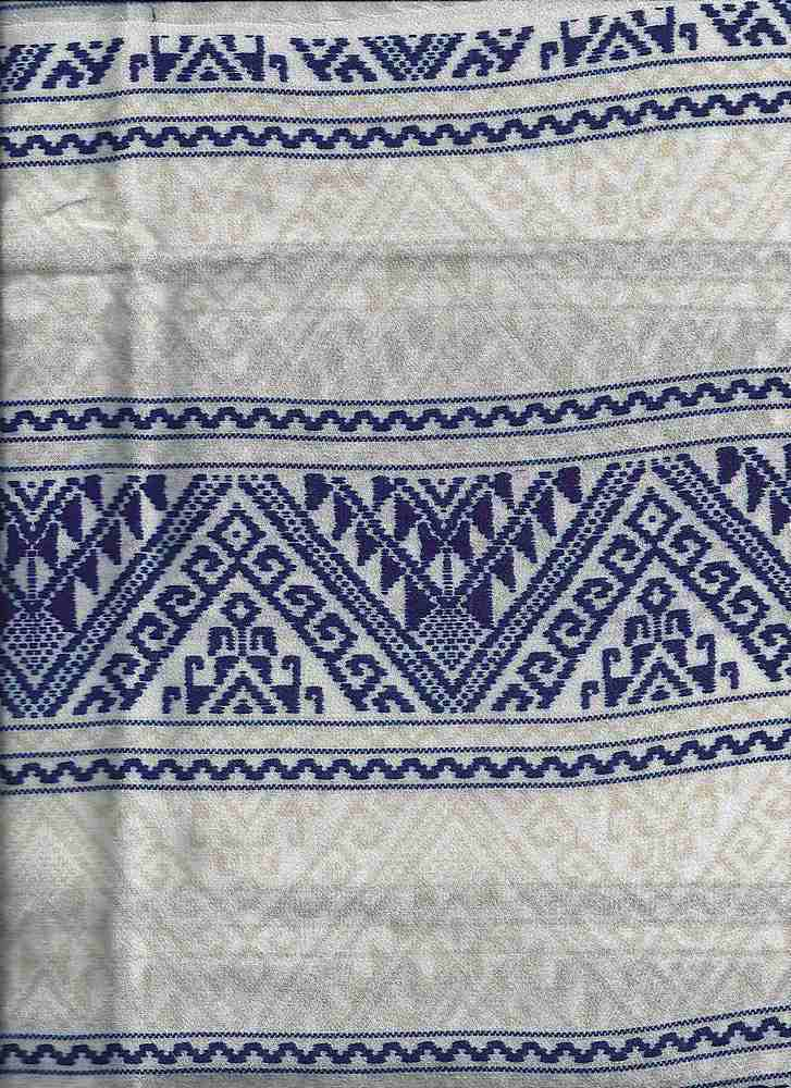 2537-64 / BLUE / 100% Rayon Gauze Print