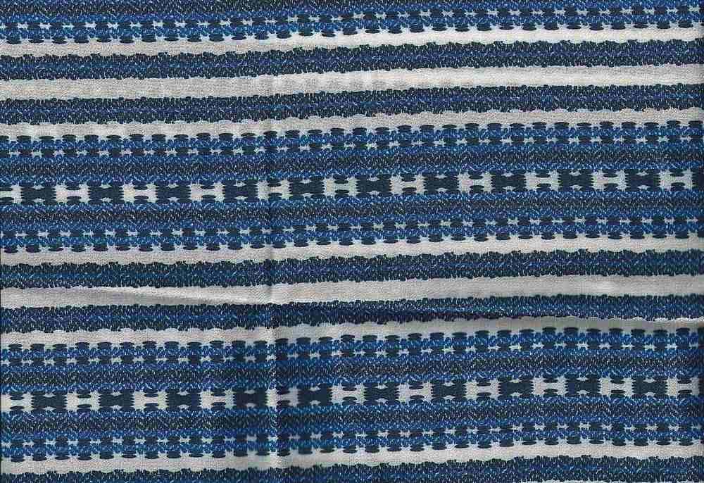 2539-64 / BLUE / 100% Rayon Gauze Print