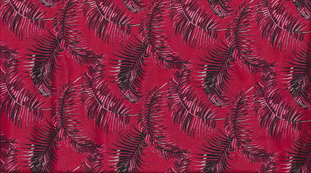 2544-64 / RED / 100% Rayon Gauze Print