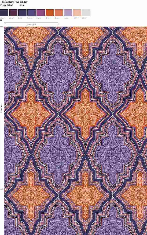 160229-35 / C0 / 100% Rayon Challis Print