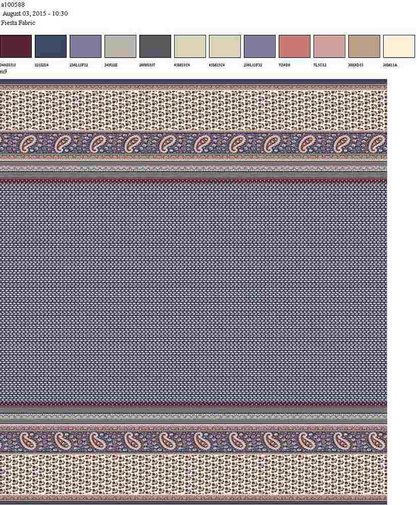 206-A100588-64 SLATE BLUE RAYON GAUZE PRINT