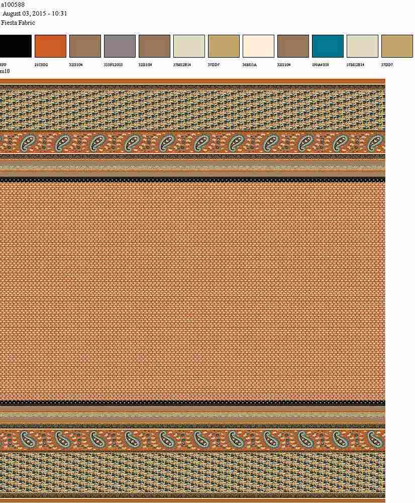 206-A100588-64 / CORAL / 100% Rayon Gauze Print