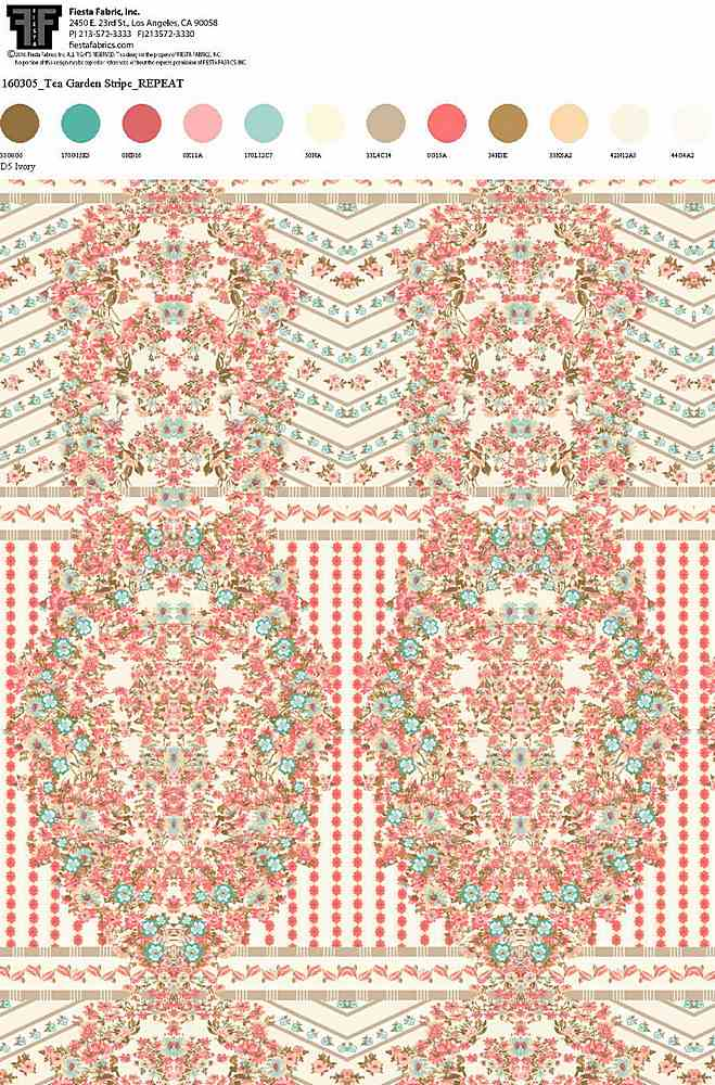 160305-30 / IVORY ROSE / Rayon Spandex Jersey Print 180gsm