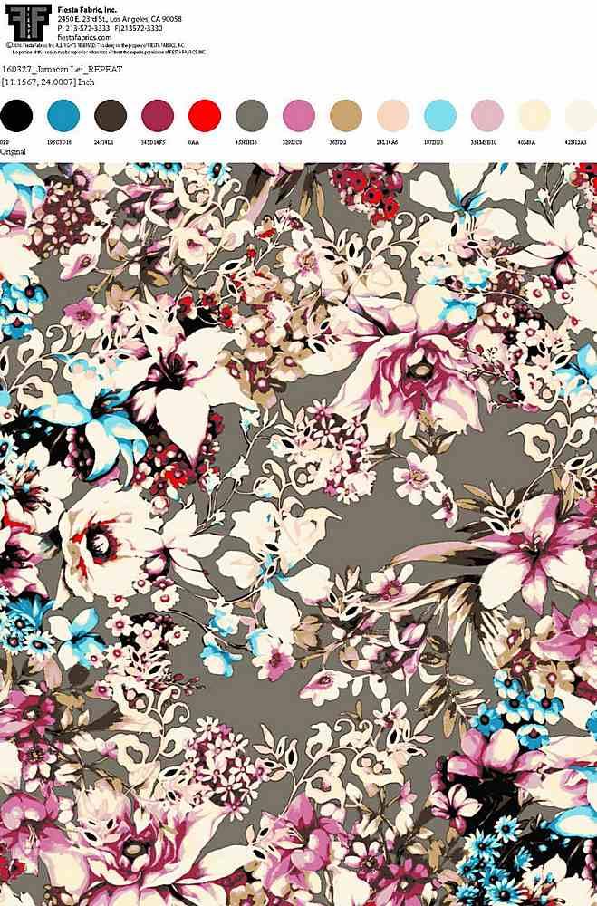 160327-35 / ORIGINAL / 100% Rayon Challis Print