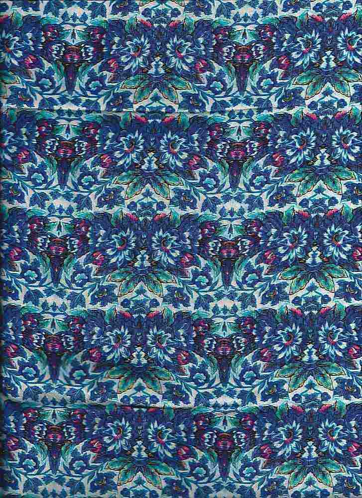 2282-64 / BLUE / 100% Rayon Gauze Print