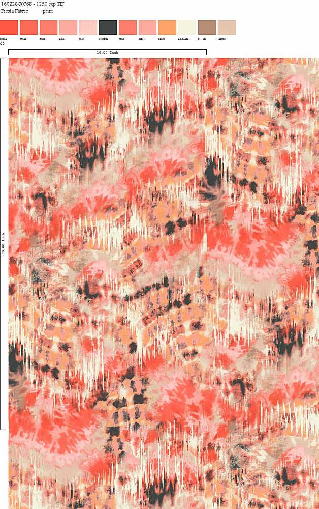 160228-35 / C6 / 100% Rayon Challis Print