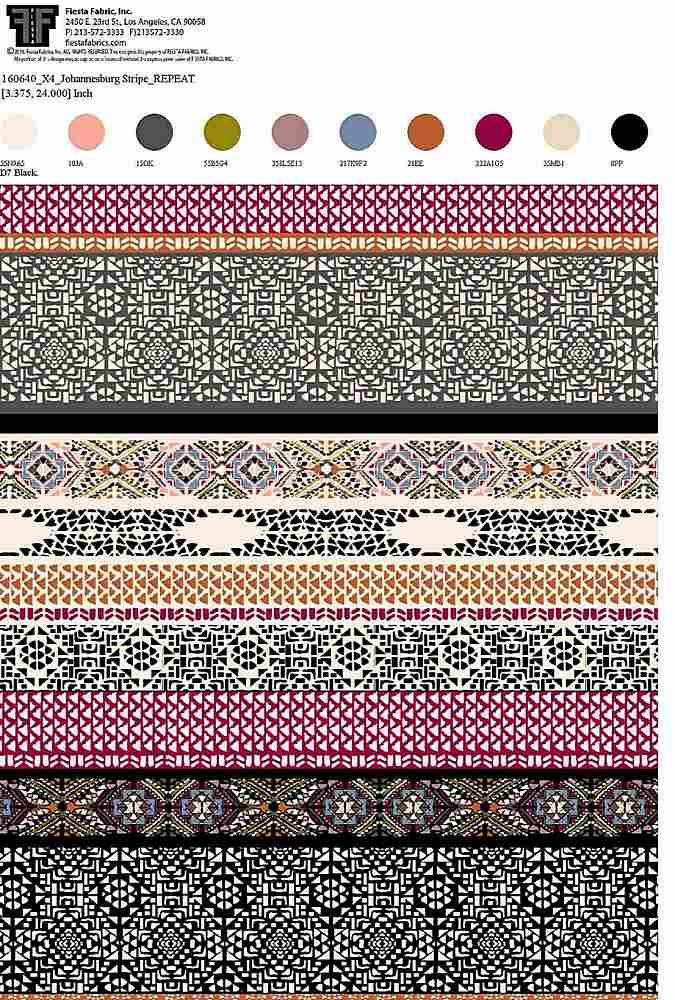 160640X4-30 / BLACK / Rayon Spandex Jersey Print 180gsm