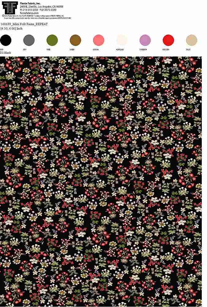 160639-64 / BLACK / 100% Rayon Gauze Print