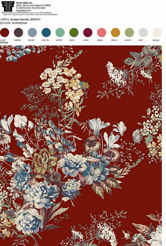 160544-30 / RUST / Rayon Spandex Jersey Print 180gsm