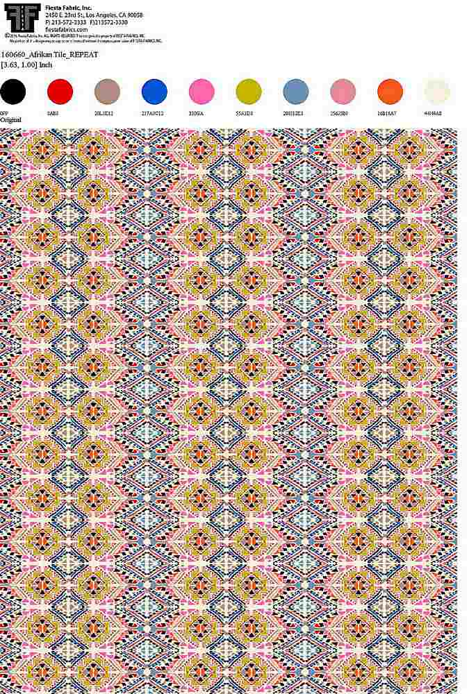 160660-64 / ORIGINAL / 100% Rayon Gauze Print