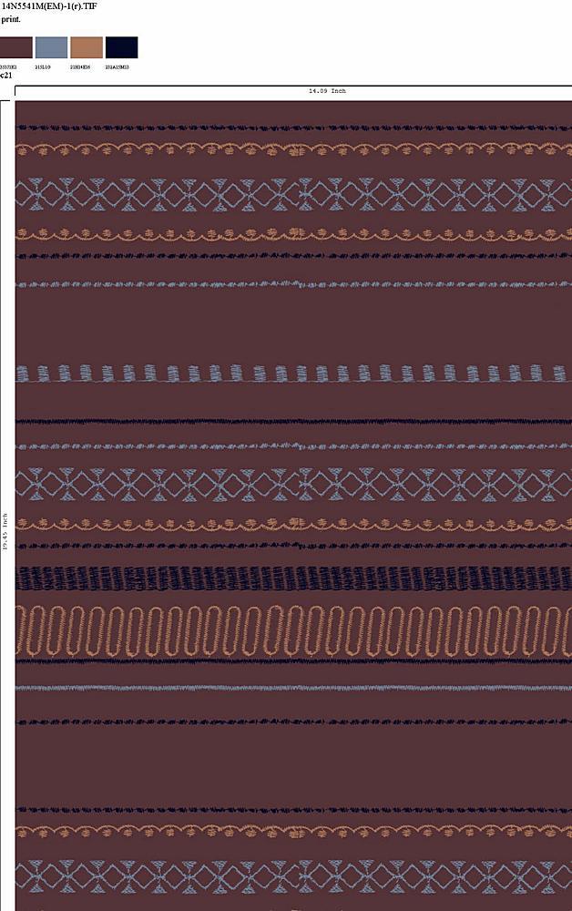 14N5541M-1R-64 C21 GEO/STRIPE/PNP FALL 2018 RAYON GAUZE PRINT