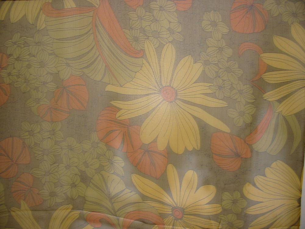 FIE-206-404 / GREEN/ORANGE         / SILK CHIFFON PRINT 8 M/M 100% SILK