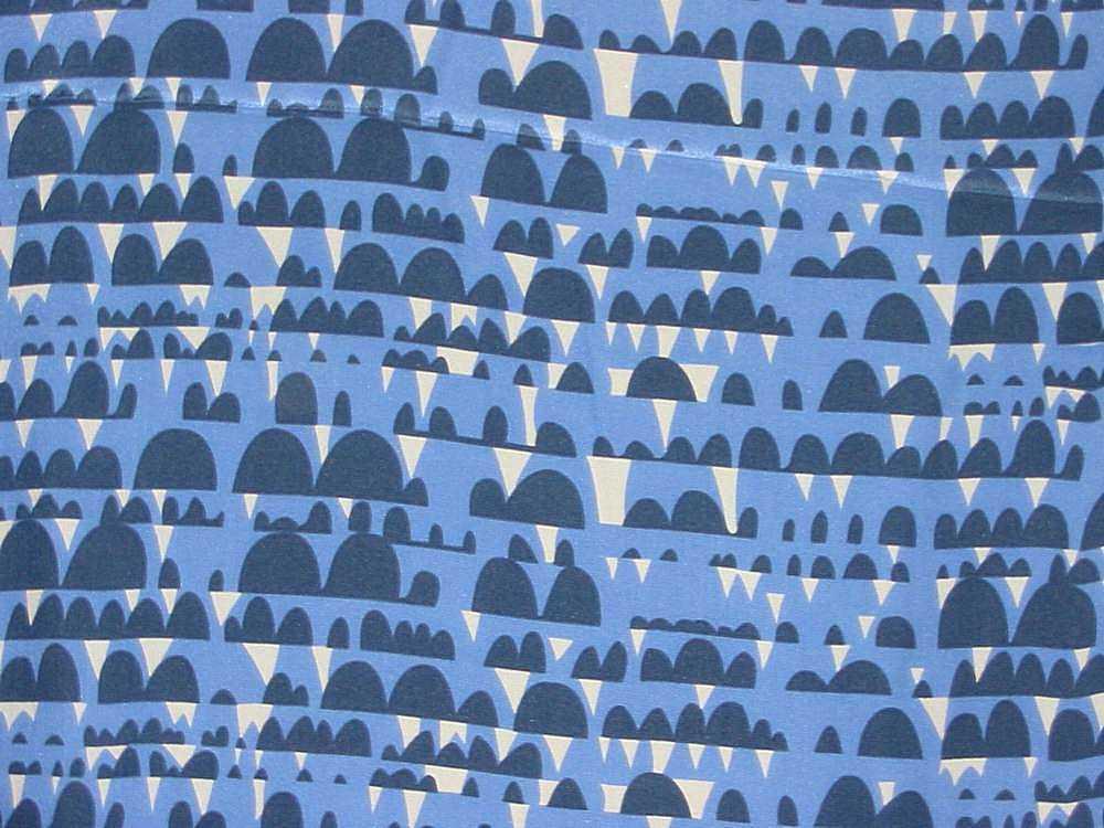 974-26 / BLUE                 / 100% Poly CDC Print