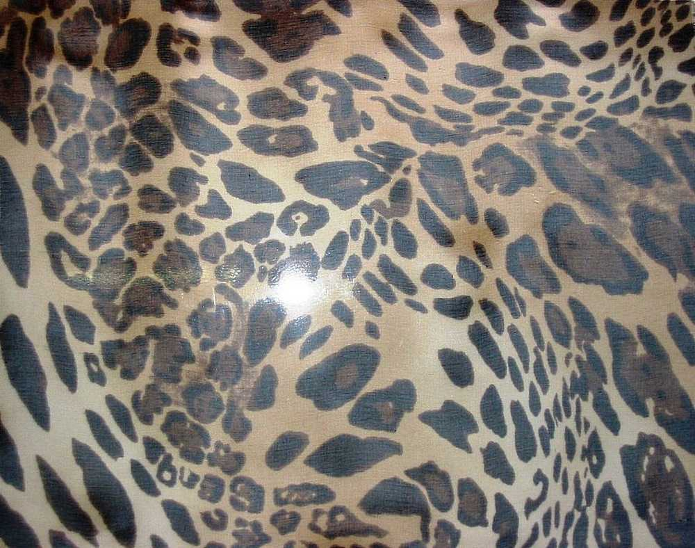 ANIMAL WORLD / BROWN/TAUPE         / SILK CHIFFON PRINT 8 M/M
