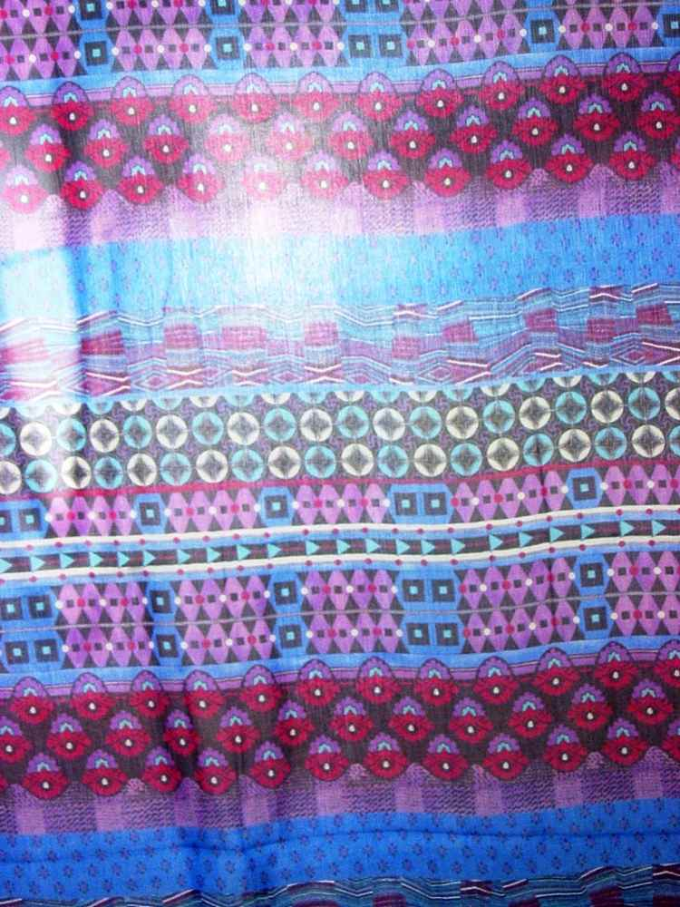 SO2205 / PURPLE                 / 5  SILK CHIFFON PRINT 6 M/M 100% Silk