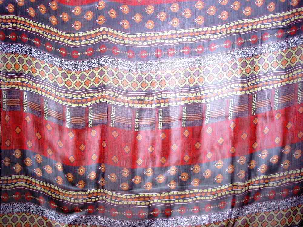 SO2153 / RED/PURPLE                 / 5  SILK CHIFFON PRINT 6 M/M