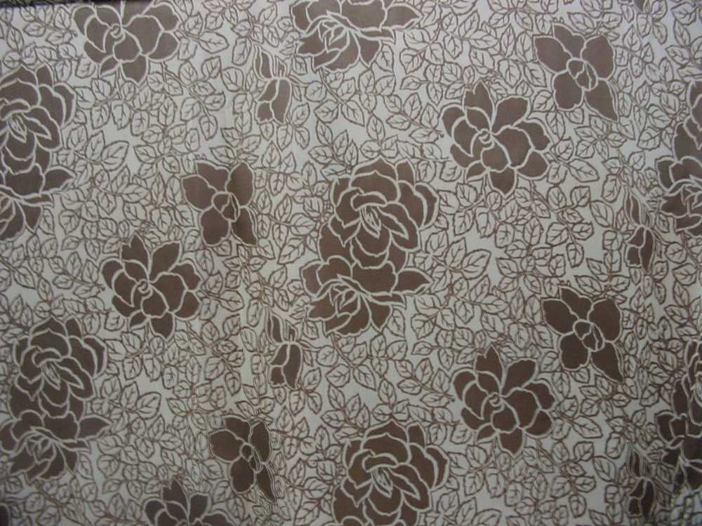 #593B / BROWN                 / SILK CHIFFON PRINT 8 M/M 100% SILK