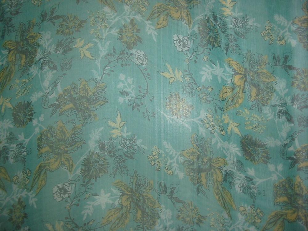 FIE-2006-172 / GREEN         / SILK YORYU CHIFFON PRINT 6 M/M