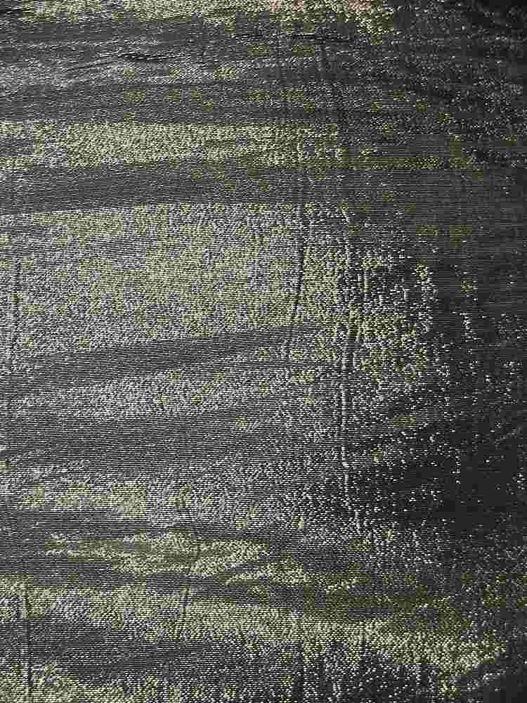 #593 / BLACK/GOLD         / SILK LUREX CHIFFON 8 M/M