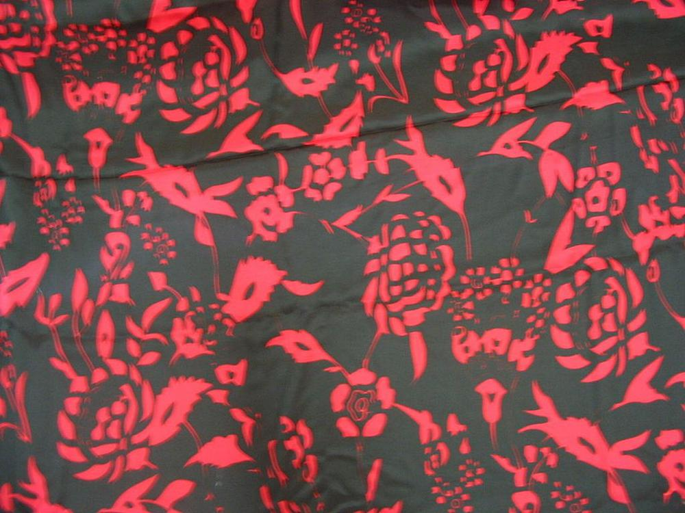 FIE-2006-200-1 / BLACK/RED                 / SILK CHIFFON PRINT 6 M/M, 100% SILK