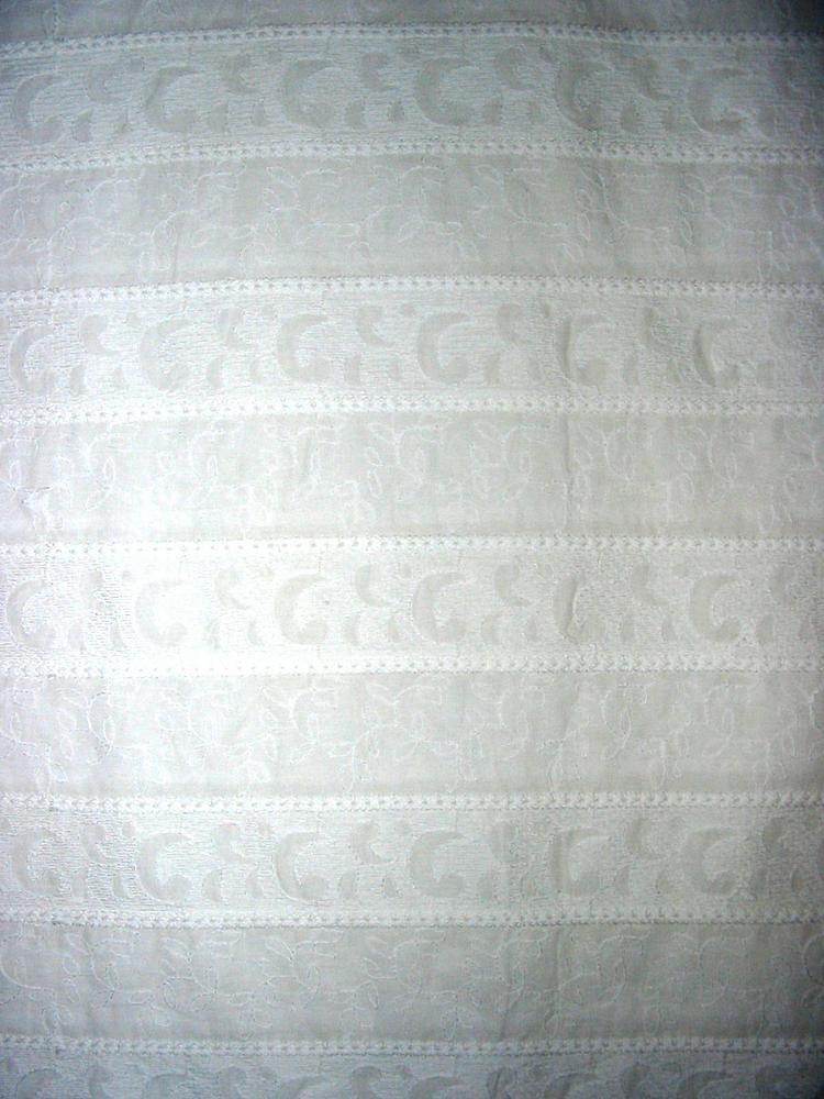 3044 / IVORY         / COTTON VOILE EMBROIDERY, 100% COTTON