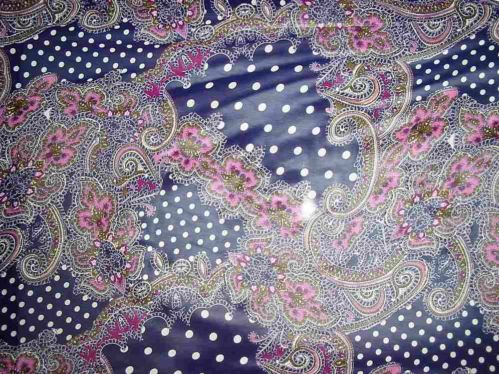 SO1452 / PURPLE                 / POLY CHIFFON PRINT W/ GLITTER