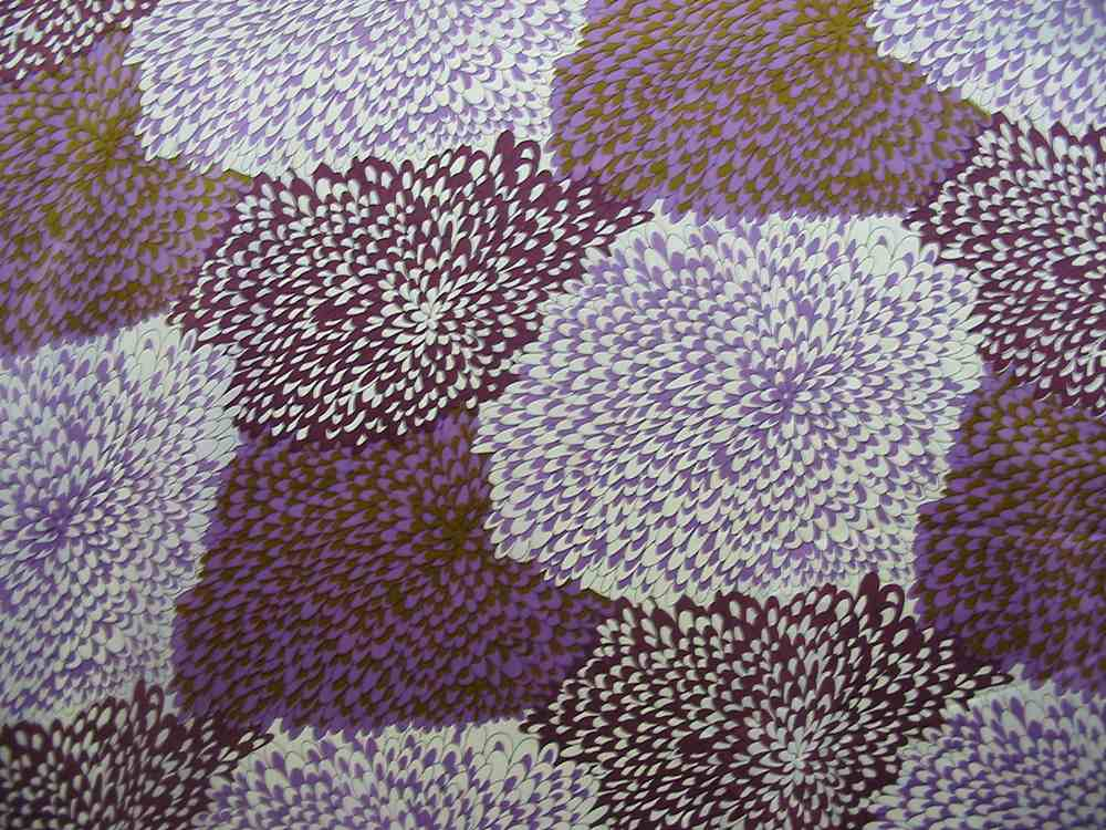 10714 / PURPLE         / SILK CHARMEUSE PRINT 16 M/M, 100% SILK
