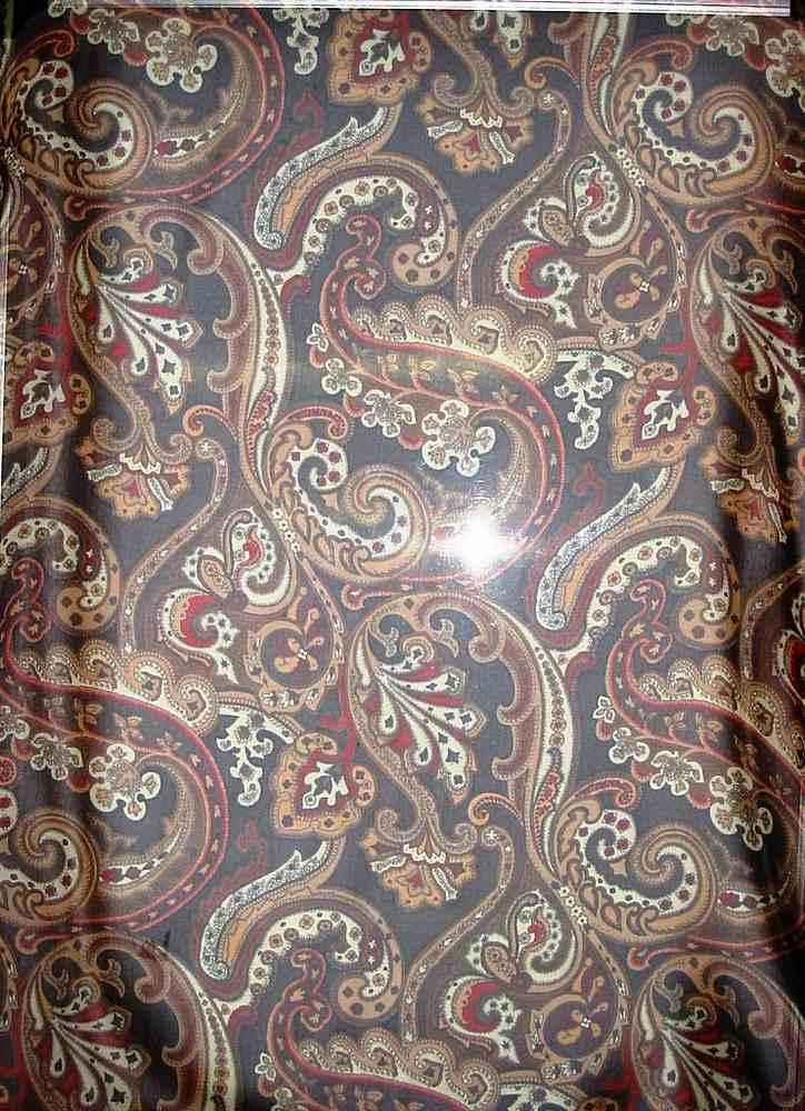 #5002 / BROWN         / 4 SILK CHIFFON PRINT 8 M/M, 100% SILK