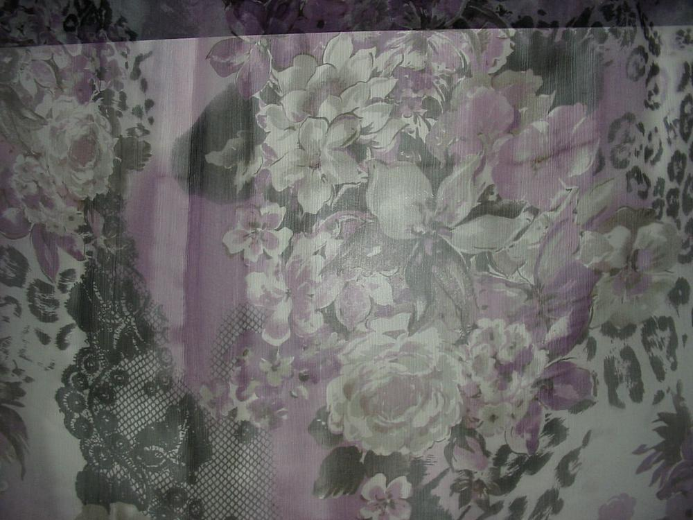 10160 / PURPLE         / SILK CHIFFON PRINT 6 M/M, 100% SILK