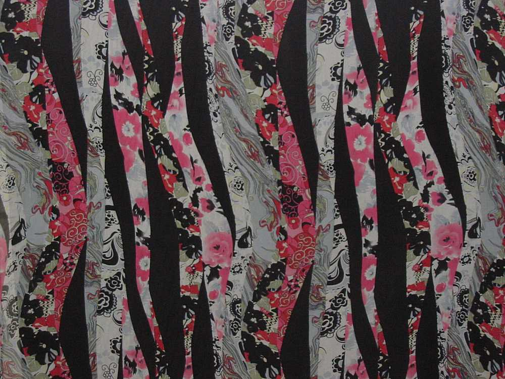 GP340 / BLACK                 / 4  SILK CHIFFON PRINT 8 M/M, 100% SILK