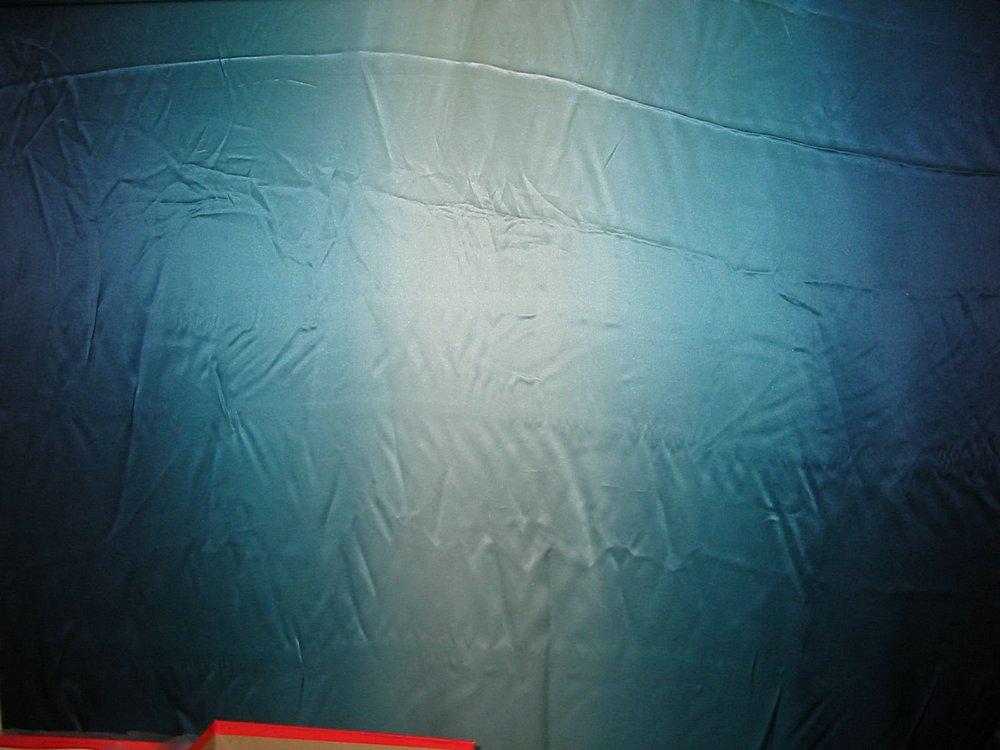 FIE-2006-169 / BLUE         / SILK CHARMEUSE OMBRE  100% SILK