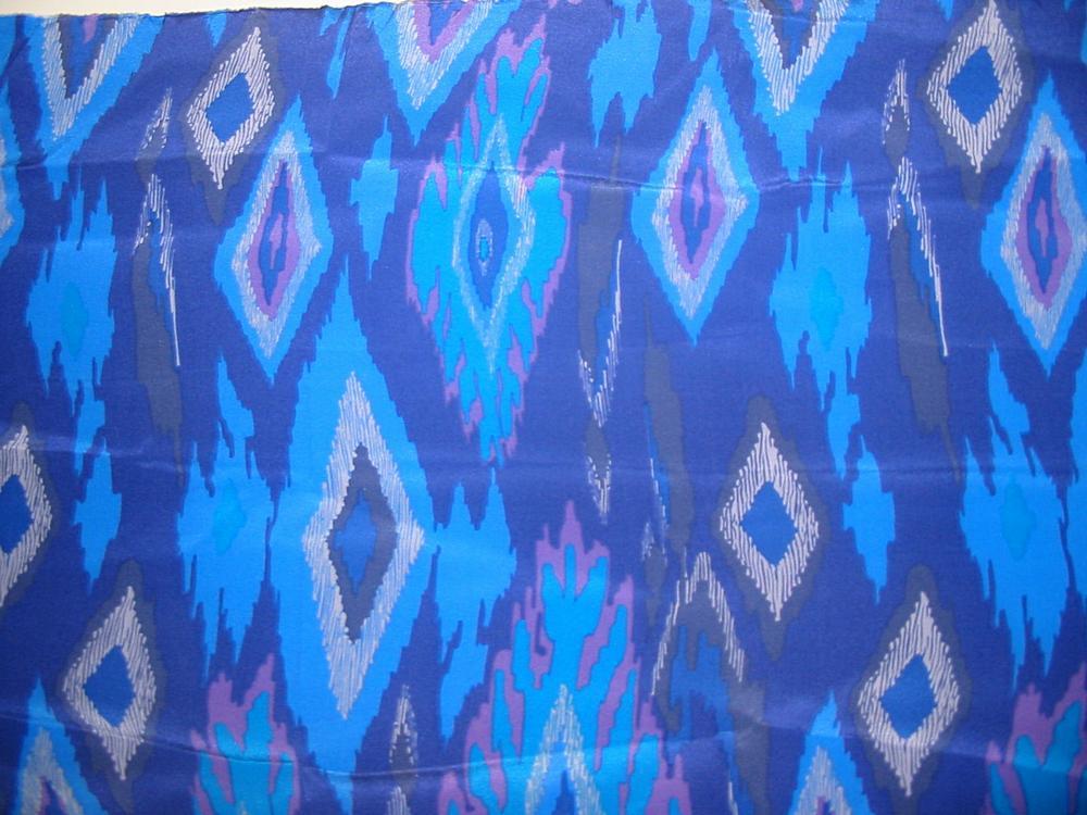 FIE-206-486-3 / BLUE         / 100% SILK CREPE DE CHINE PRINT 16m/M