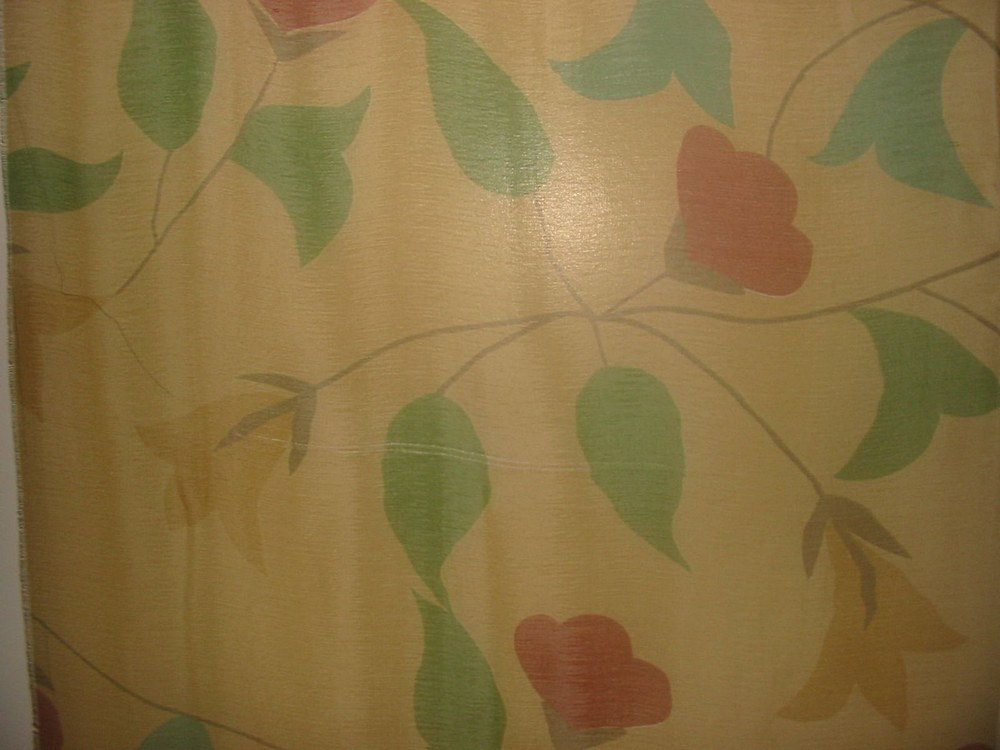 #487 / YELLOW         / SILK CHIFFON PRINT 8 M/M