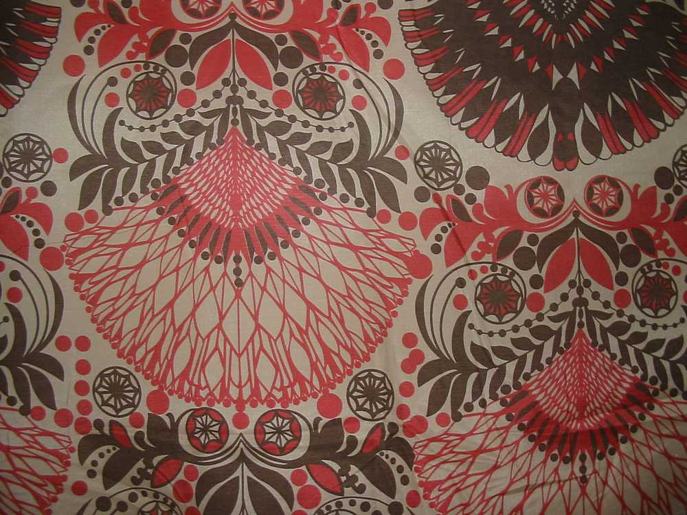 ALOK METTALIC / RED                 / SILK/COTTON VOILE PRINT