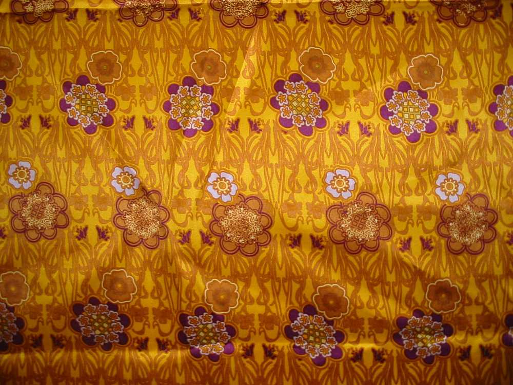 FIE-206-451 / GOLDEN                 / SILK CHARMEUSE PRINT 16 M/M, 100% SILK