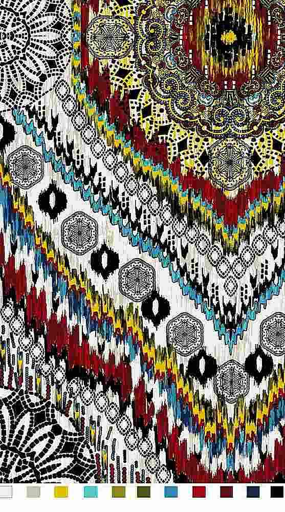 FIE-206-1008-30 / MULTI         / Rayon Spandex Jersey Print